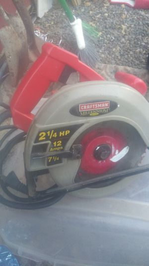 Craftman Millennium Series 2 1/4 HP 12 Amps 7 1/4 Circular Saw for Sale in Oklahoma City, OK