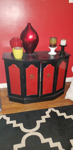 Black and red cabinet for Sale in Mount Rainier, MD