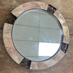 Mirror tray from Pier 1. New. Heavy. Has stone around it very pretty. You could use it in the bathroom and put your perfume bottles or anything else o for Sale in Atlanta, GA
