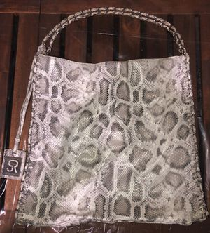 Sondra Roberts Grey Snake Skin Tote Bag Purse for Sale in St. Petersburg, FL