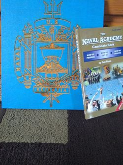 Naval Academy Laser Trimmed Wood Art w/ Candidate Book for Sale in Kennesaw,  GA