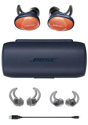 Bose SoundSport Free, True Wireless Sport Headphones, (Sweatproof Bluetooth Headphones for Workouts), Bright Orange for Sale in Mesa, AZ