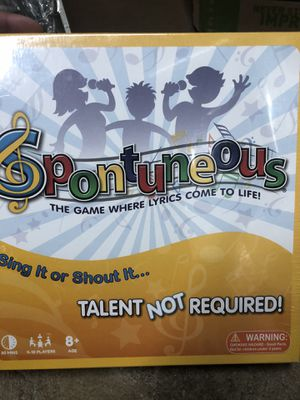 Spontuneous - The Song Game - Sing It or Shout It - Talent NOT Required (Family / Party Board Game) for Sale in Arvada, CO