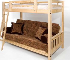 Bunk Bed With Full Futon Bottom for Sale in Ruskin,  FL