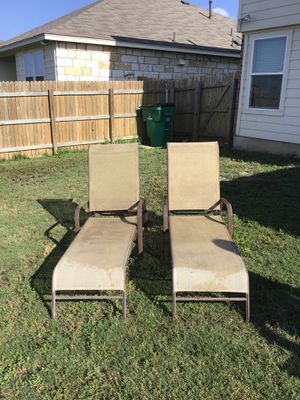 Adjustable outdoor lounge chairs for Sale in Bastrop, TX