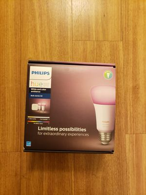 Philips Hue Ambiance A19 Starter Kit - White and Color for Sale in Baltimore, MD