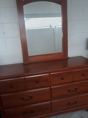 Small dresser and mirror $85 for Sale in Tampa, FL