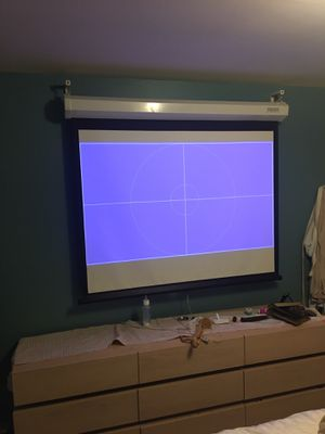 Da Lite projector screen ! 5.5 feet by 3.5 feet for Sale in Seattle, WA
