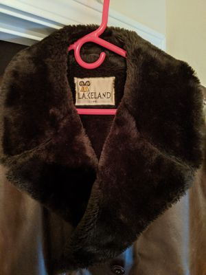 Vintage Lakeland Leather Coat with Shearling Fur Lining for Sale in Tacoma, WA