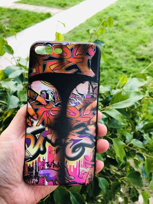 Brand new cool iphone 7+ or 8+ PLUS case cover rubber tattoo graffiti mens guys hypebeast hypebae hype swag for Sale in San Bernardino, CA