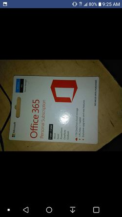 Office 365 personal subscription card for Sale in Waco,  TX