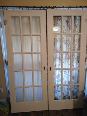 Jen Weld French Doors 15 light panels Solid Oak for Sale in Tigard, OR