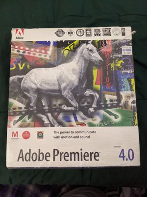 Adobe Premiere 4.0 for Sale in South San Francisco, CA