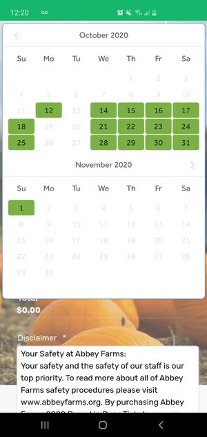 4 Abbey farms pumpkin patch tickets for Sale in Chicago, IL