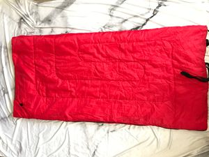 Red kids child small adult sleeping bag camping gear for Sale in Artesia, CA