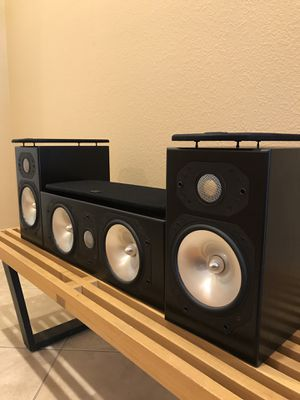 Monitor Audio silver S1 with center made in England Las Vegas pick up only for Sale in Las Vegas, NV