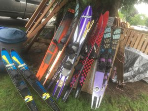 WATER SKIS —-5 Pair + toddler learning ski for Sale in Lynnwood, WA