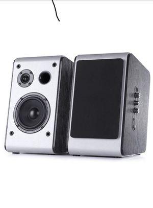 Powered Bluetooth Bookshelf Speakers Pair Big Speaker Stereo HiFi Desktop Audio Bass for Sale in Cumming, GA