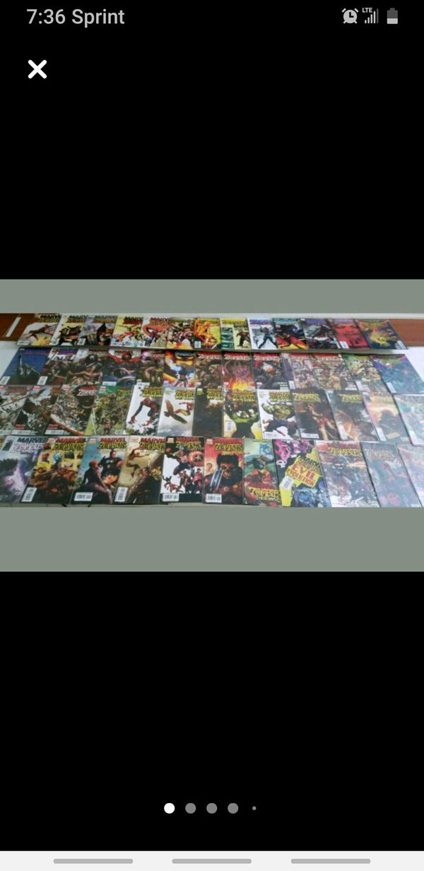 Trade or Cash MARVEL ZOMBIES FIRST EDITION COMPLETE SET $170 OR TRADE