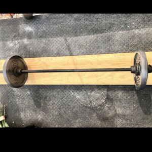 5 Foot Standard Barbell / Bar With weight plates...$125 FIRM for Sale in Phoenix, AZ