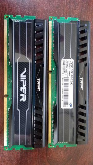 Patriot Ram sticks (2x8) 16GB DDR3 for Sale in San Diego, CA