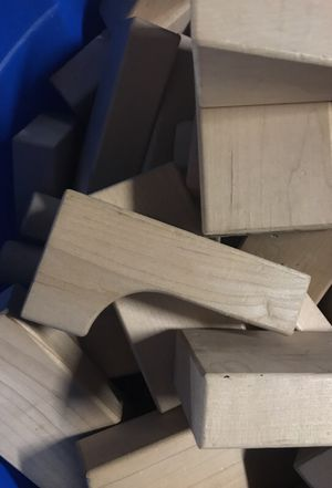 Wooden building blocks huge tub top quality for Sale in Los Angeles, CA