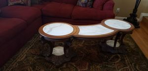 Custom order Solid Italian mahogany wood with marble for Sale in San Jose, CA