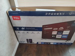 TCL Roku 50 Inch 4k UHD with HDR for Sale in Ruskin, FL