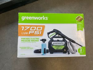 Greenworks 1700 portable electric pressure washer in box for Sale in Bothell, WA