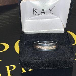 Men's Tungsten Triton diamond wedding ring for Sale in Lanham, MD