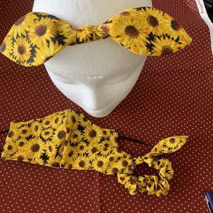 Face Mask With Headband And Scrunchie Set for Sale in Winchester, CA