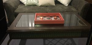 ANTIQUE COFFEE GLASS TABLE for Sale in San Francisco, CA