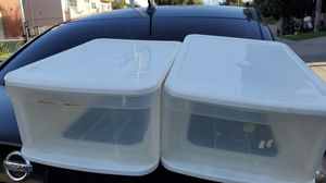 Clear Plastic Drawers $5 each Both for $8 for Sale in Culver City, CA