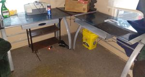 Glass corner desk for Sale in Wichita, KS