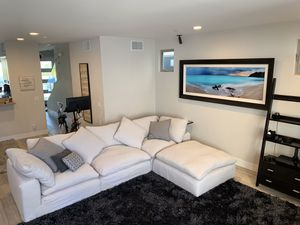 RESTORATION HARDWARE - Sectional Couch Cloud and Ottoman for Sale in San Diego, CA
