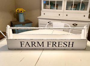 "Handmade wooden ""Farm Fresh"" toolbox centerpiece for Sale in Surprise, AZ"