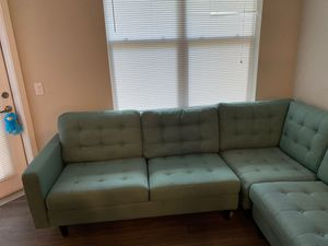 Empress 3 piece upholstered fabric sectional couch set for Sale in Teaneck, NJ