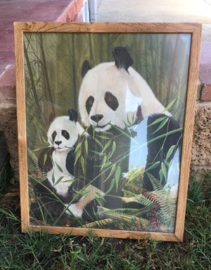 Framed picture of panda for Sale in Highland, CA