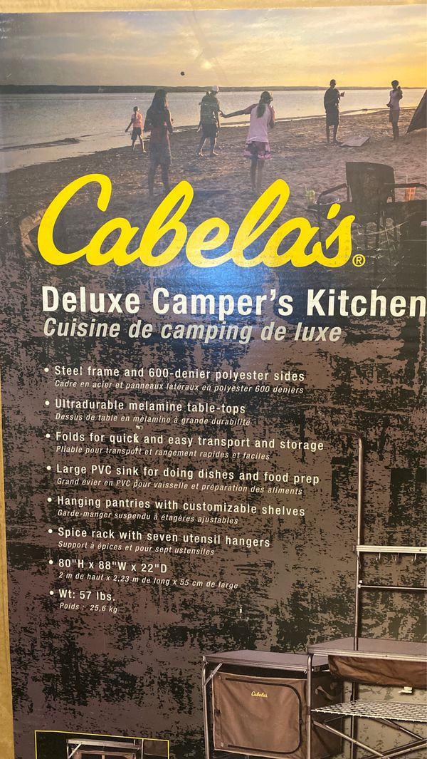 Never Used Cabela's deluxe camper's kitchen