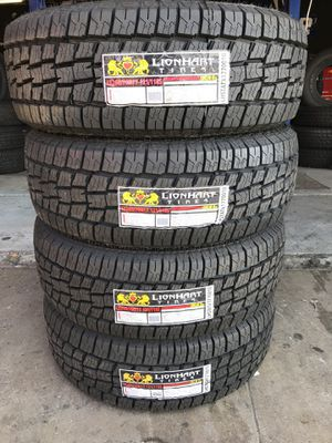 265/70/17 New set of AT tires installed for Sale in Ontario, CA