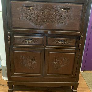 Vintage Art Carved Desk for Sale in Leesburg, VA
