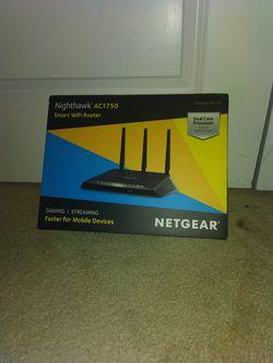 NETGEAR Nighthawk Smart WiFi Router AC1750 Wireless Speed (R6700) Gaming/Stream for Sale in Gaithersburg,  MD