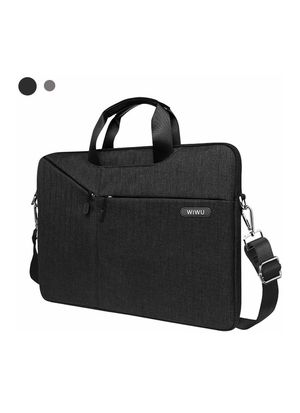 WIWU Laptop Bag 13-13.3 Inch, Slim Laptop Carrying Case With Shoulder Strap Compatible MacBook Pro, MacBook Air,Surface Book,Dell,HP,Lenovo(Black) for Sale in Hacienda Heights, CA
