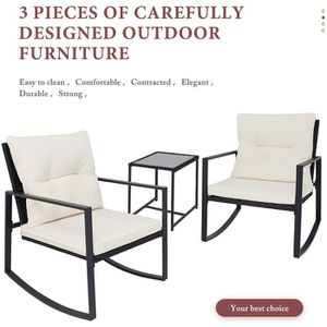 Outdoor patio set chair table wicker furniture waterproof bistro with cushions. for Sale in Norco, CA
