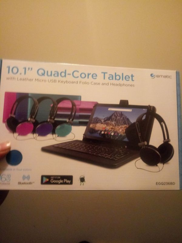 Ematic tablet bundle 10 inch android(like new)