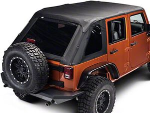Lightly Used Rampage Frameless Jeep JKU TrailTop Soft Top Roof for Sale in Miami, FL