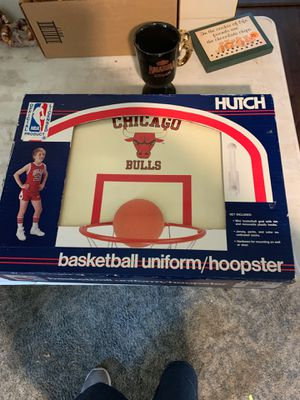 New in box- Vintage toddler Chicago bulls set- has boys small outfit- socks- basketball hoop and backboard $20 for Sale in Fairview, OR
