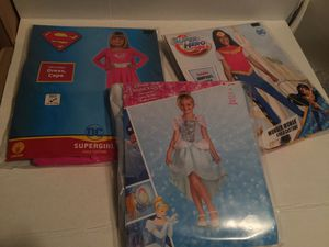 HALLOWEEN COSTUMES SUPERHERO WONDER WOMEN SUPERGIRL CINDERELLA SMALL 4-6 (3 for $21) for Sale in Peabody, MA