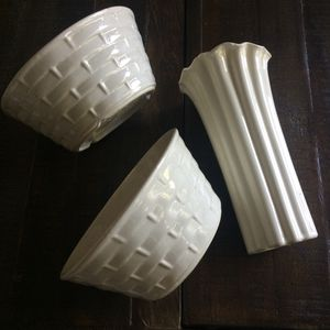 Vintage California Pottery vase and 2 bowls/plant holders for Sale in Santa Clarita, CA
