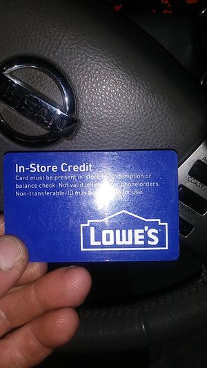 Lowes card for Sale in Charlotte, NC